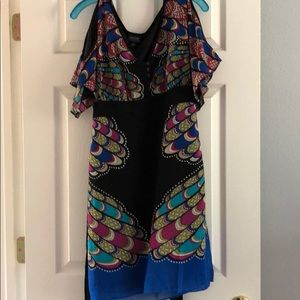 Nicole peep shoulder dress size 10